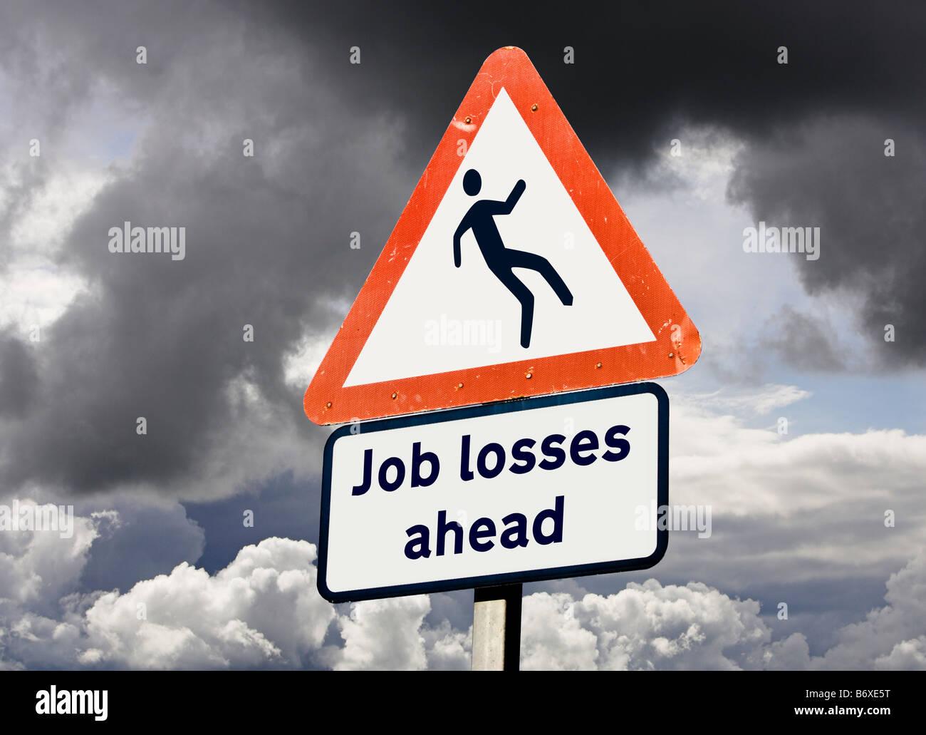 Les pertes d'emploi chômage concept UK Photo Stock