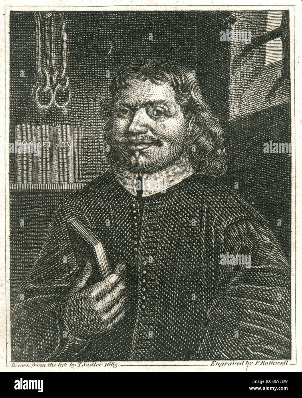 John Bunyan (28 novembre 1628 - 31 août 1688) était un écrivain chrétien et prédicateur, Banque D'Images