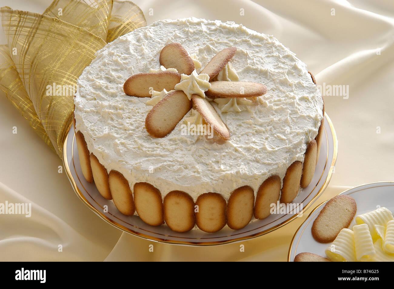Gâteau éponge Victoria Banque D'Images