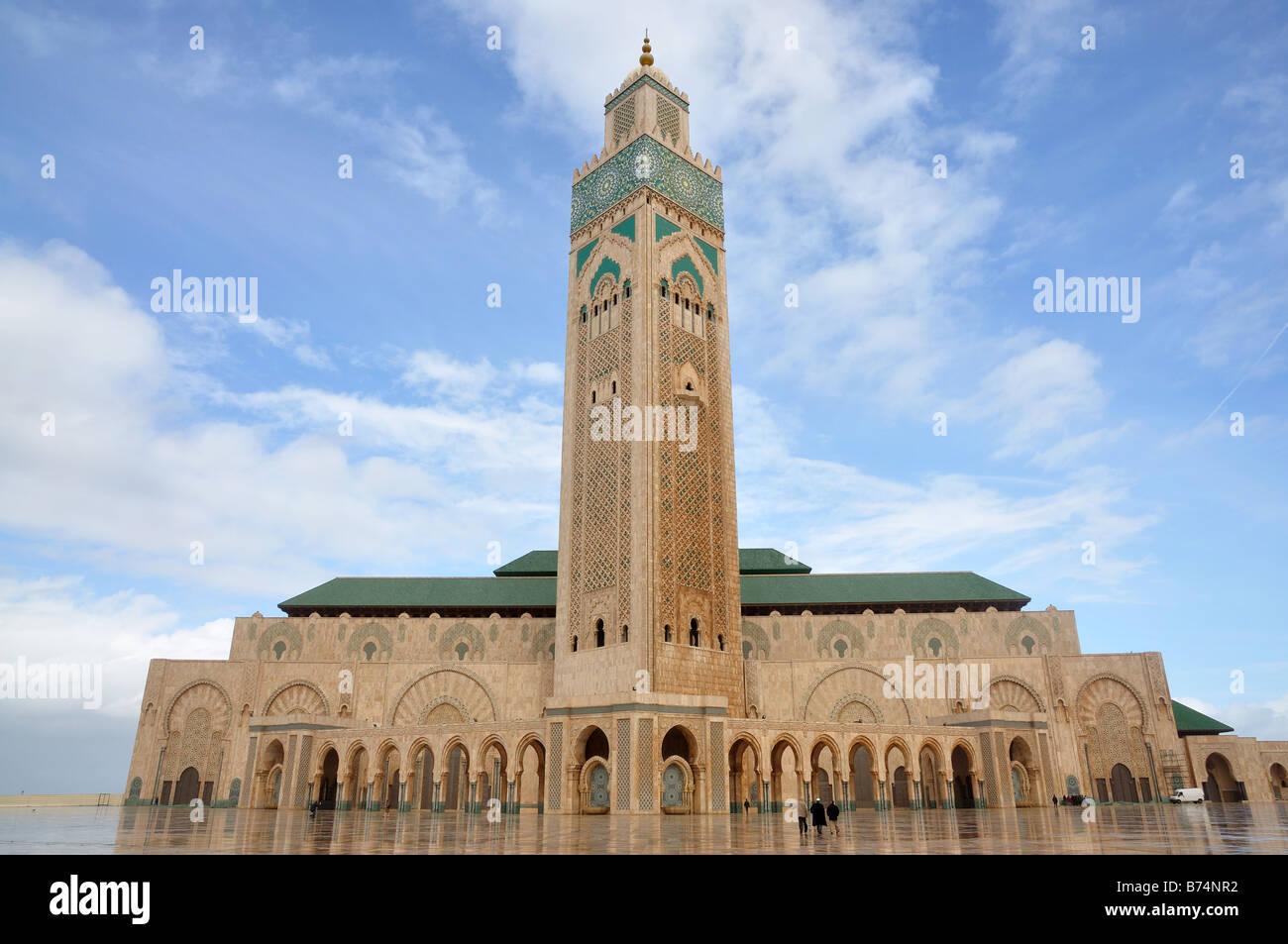 Mosquée Hassan II à Casablanca au Maroc, l'Afrique Photo Stock