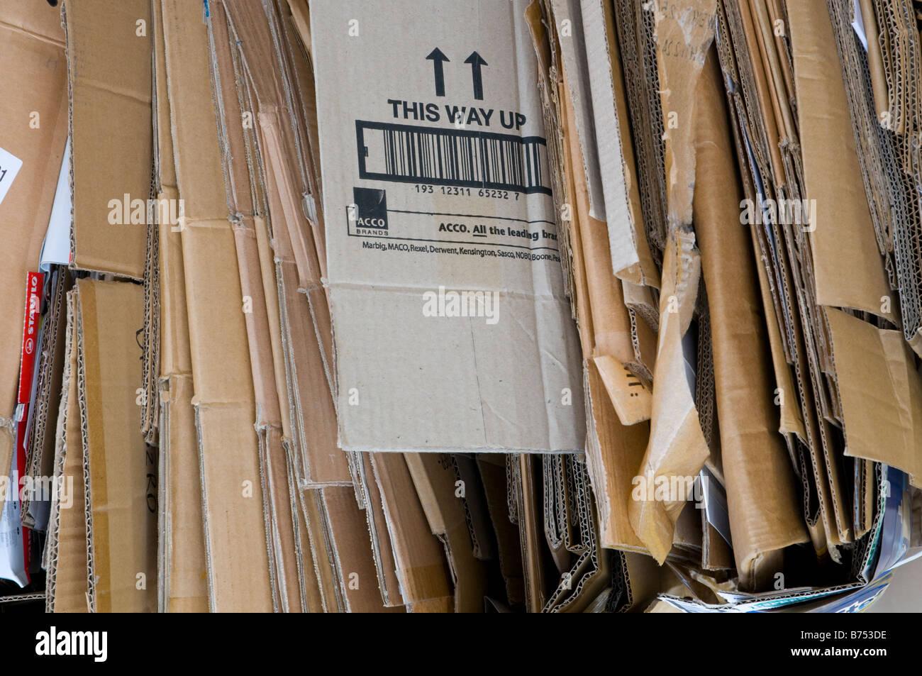 Les emballages en carton pour recyclage Photo Stock