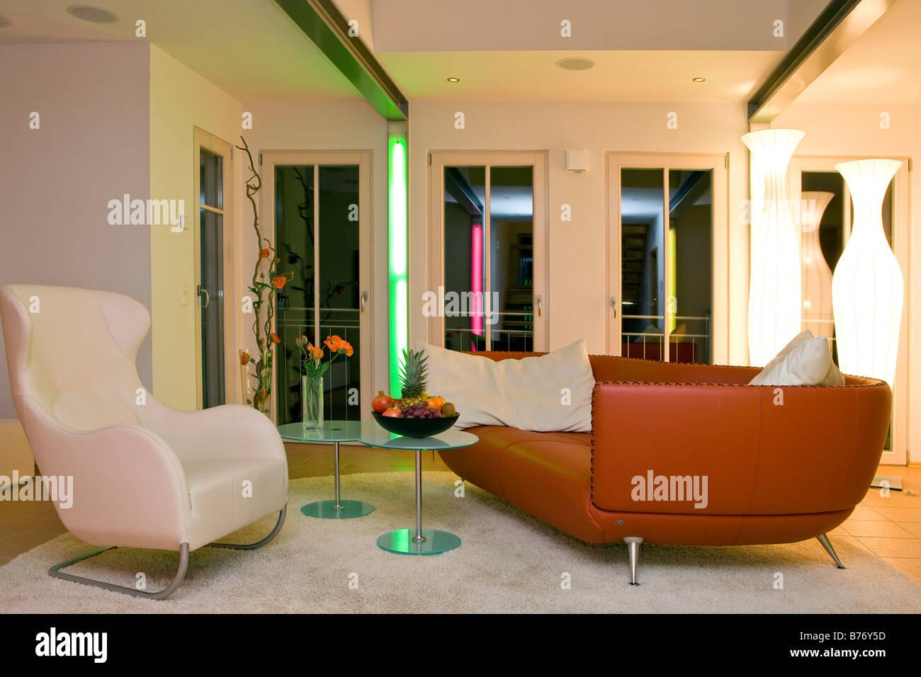 Modernes Wohnzimmer, modern living room Banque D'Images