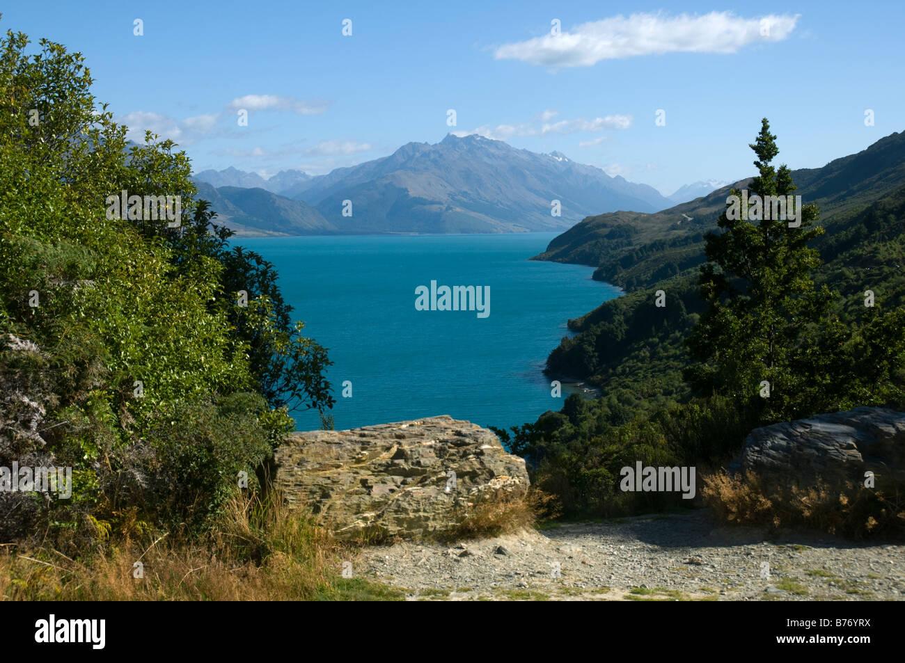 Le lac Wakatipu, près de Glenorchy, île du Sud, Nouvelle-Zélande Banque D'Images