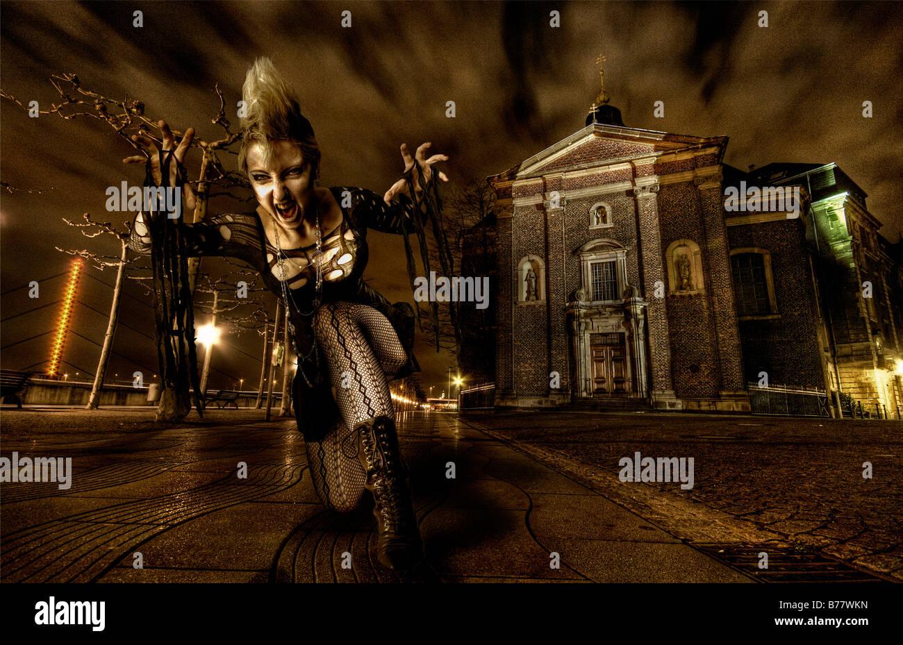 Femme vampire, fantaisie Banque D'Images
