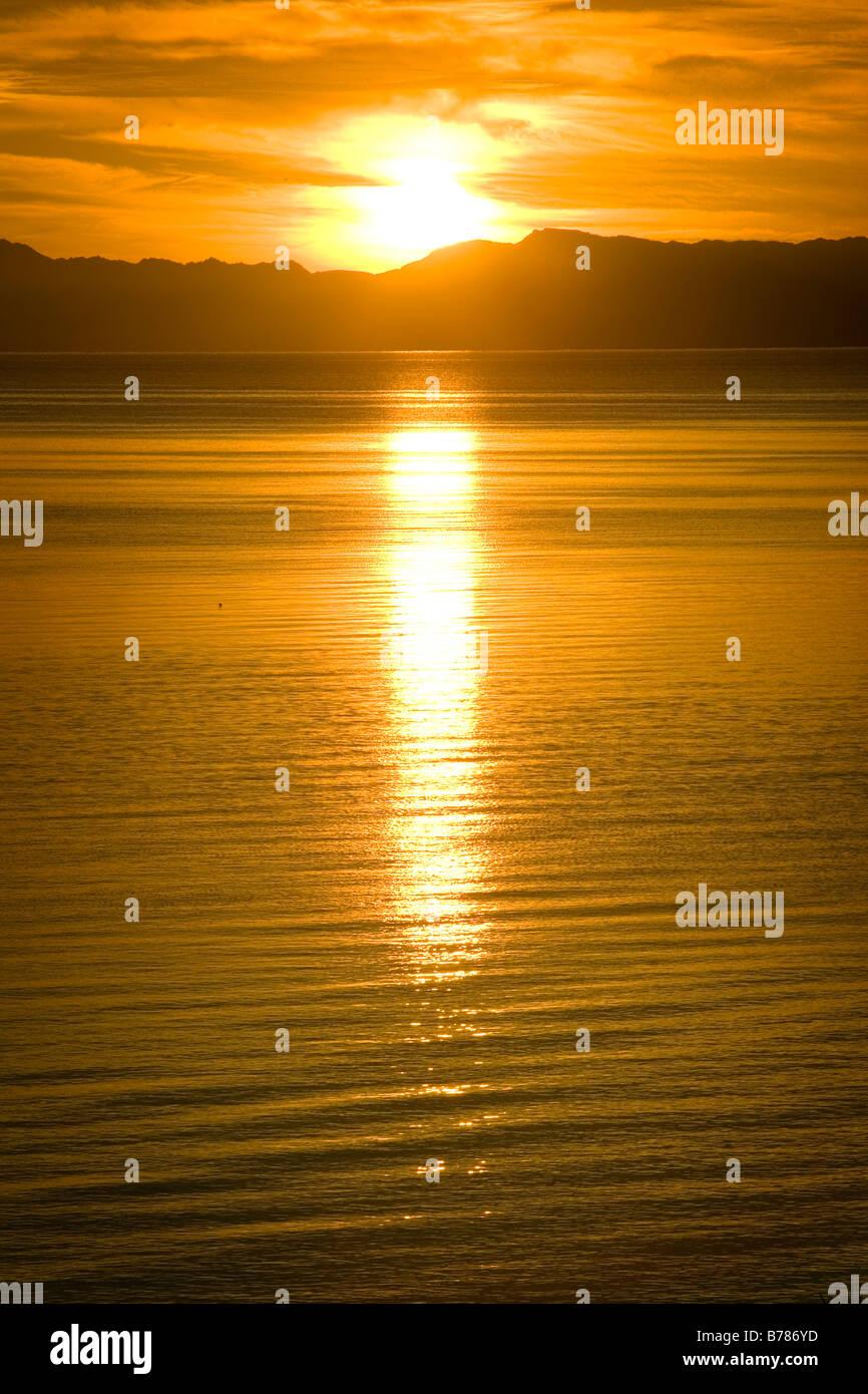 Un lever de soleil à Dahab Egypte sur la mer rouge, Dahab, Egypte Photo Stock