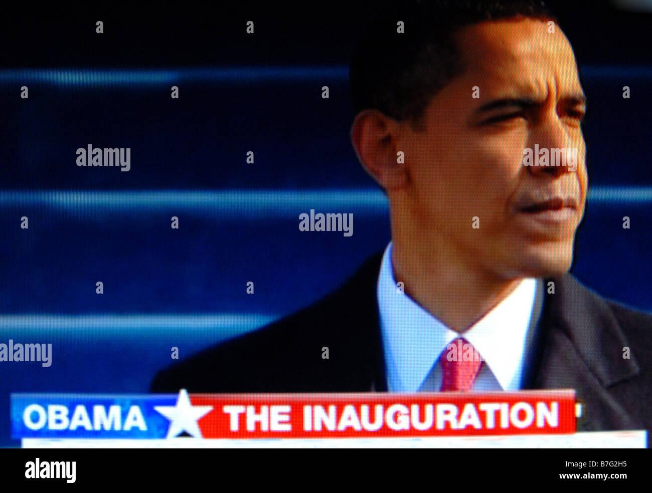 Historique de l'investiture de Barack Obama le 20 janvier 2009 Banque D'Images