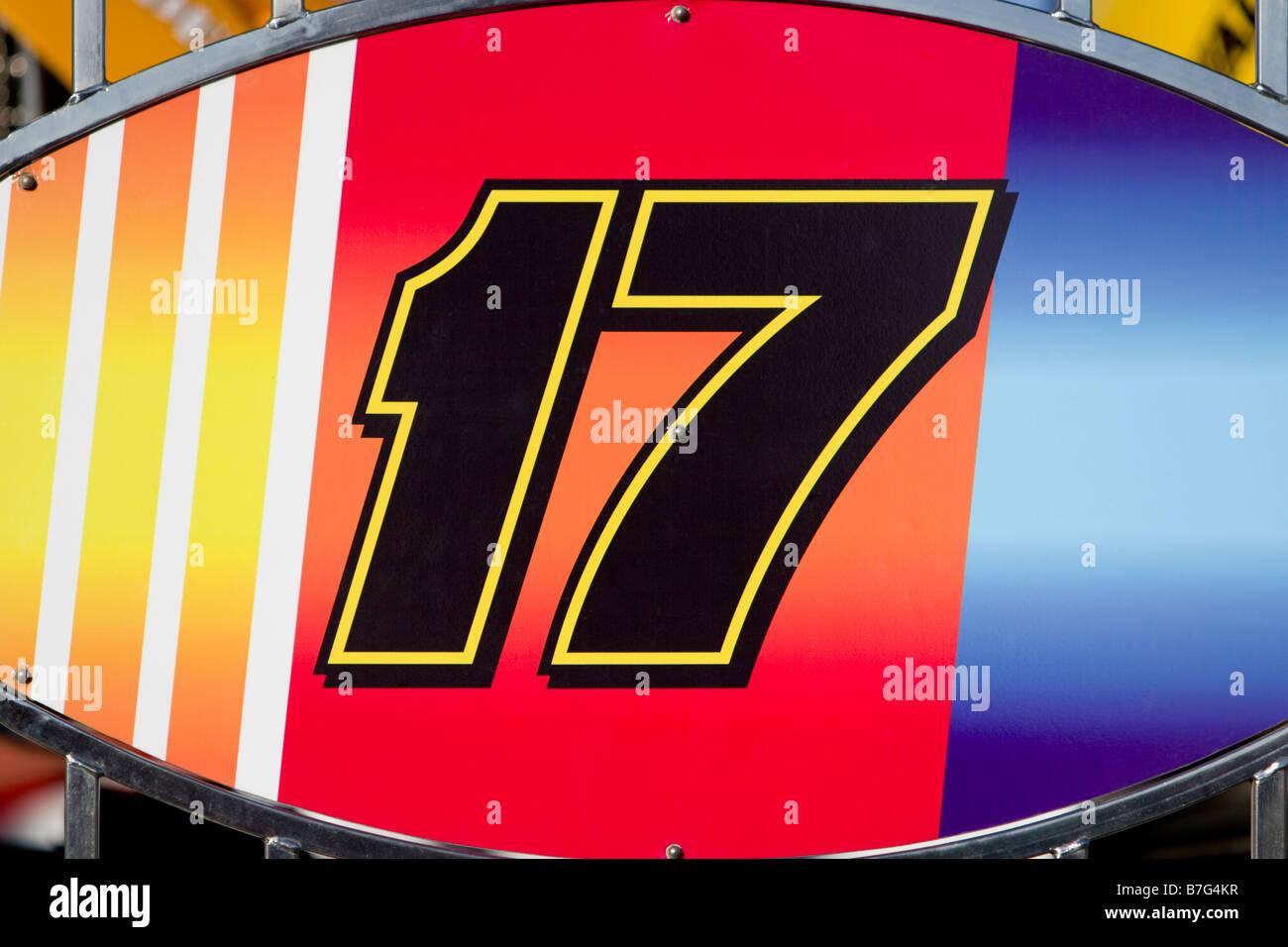 Numéro 17 en course ellipse Photo Stock
