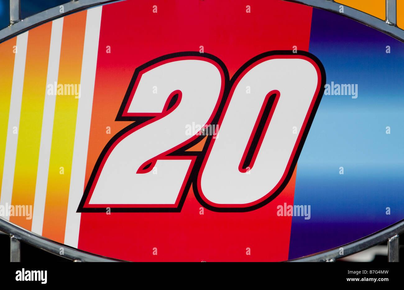 Numéro 20 en course ellipse Photo Stock