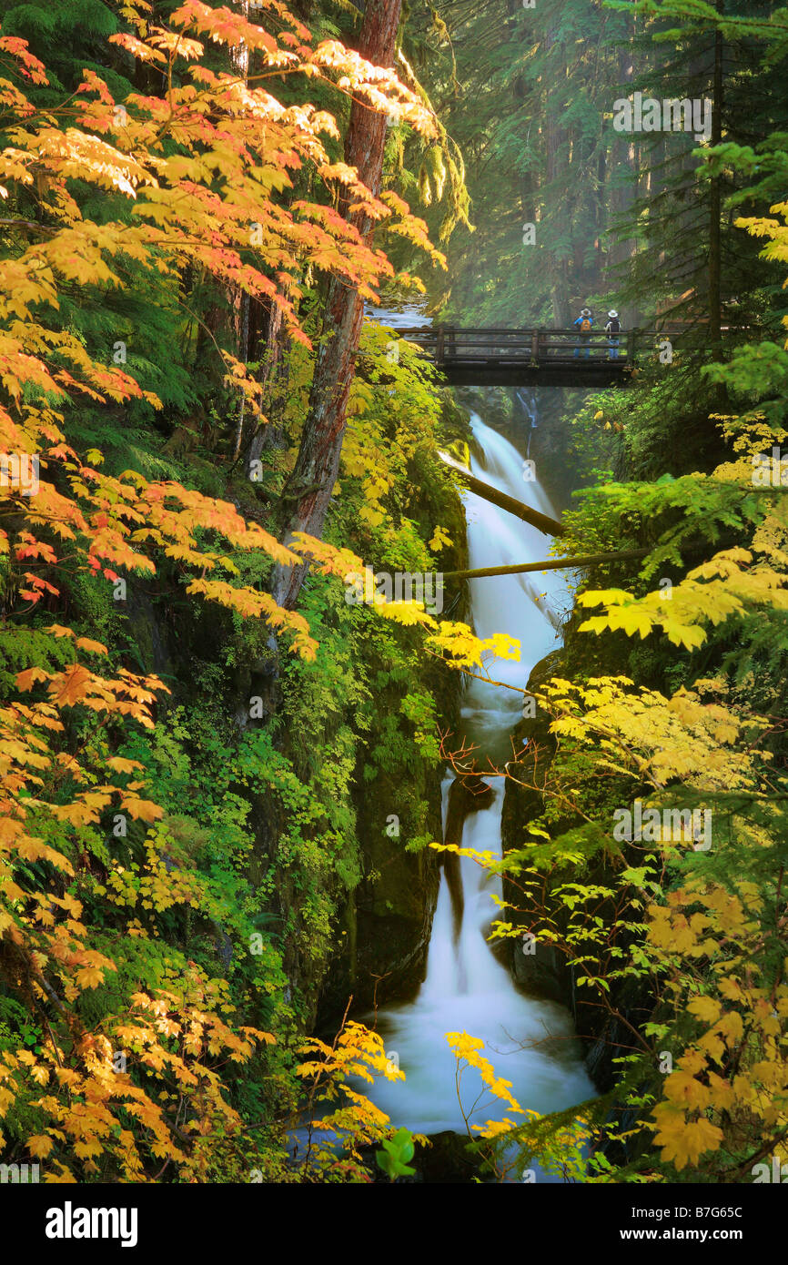 Sol Duc falls in Olympic National Park, Washington Photo Stock