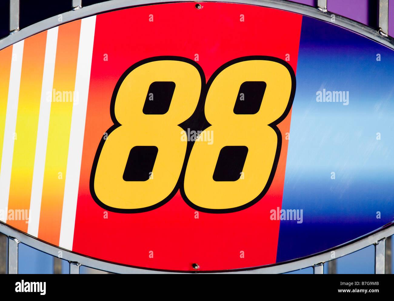 Numéro 88 en course ellipse Photo Stock
