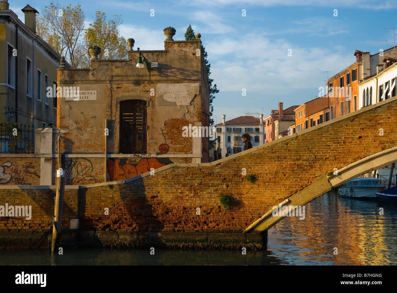 Fondamenta canal Briati dans quartier de Dorsoduro de Venise Italie Europe Photo Stock