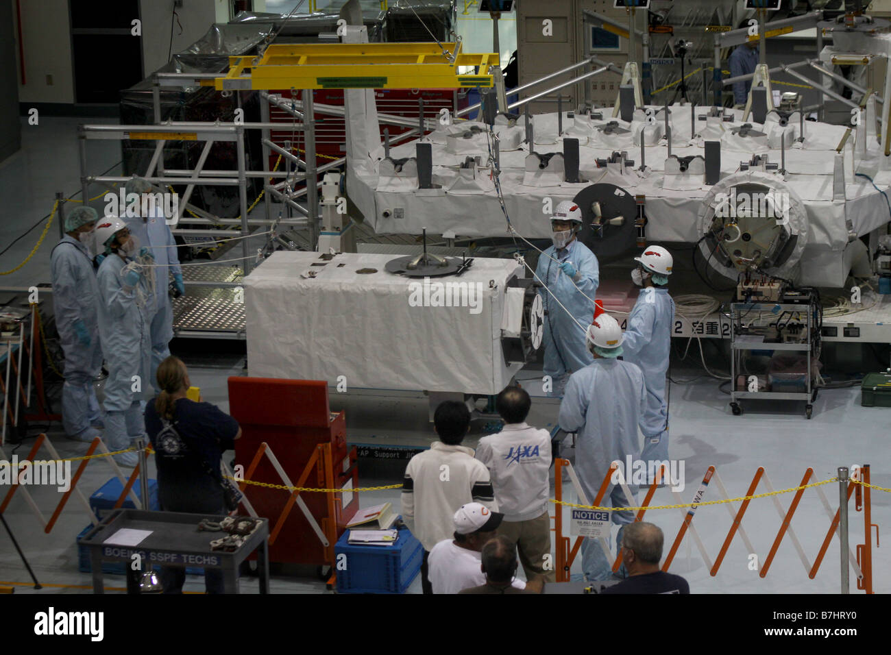 La station spatiale internationale ISS JAXA Assemblée JEM module expérimental japonais Kibo Photo Stock