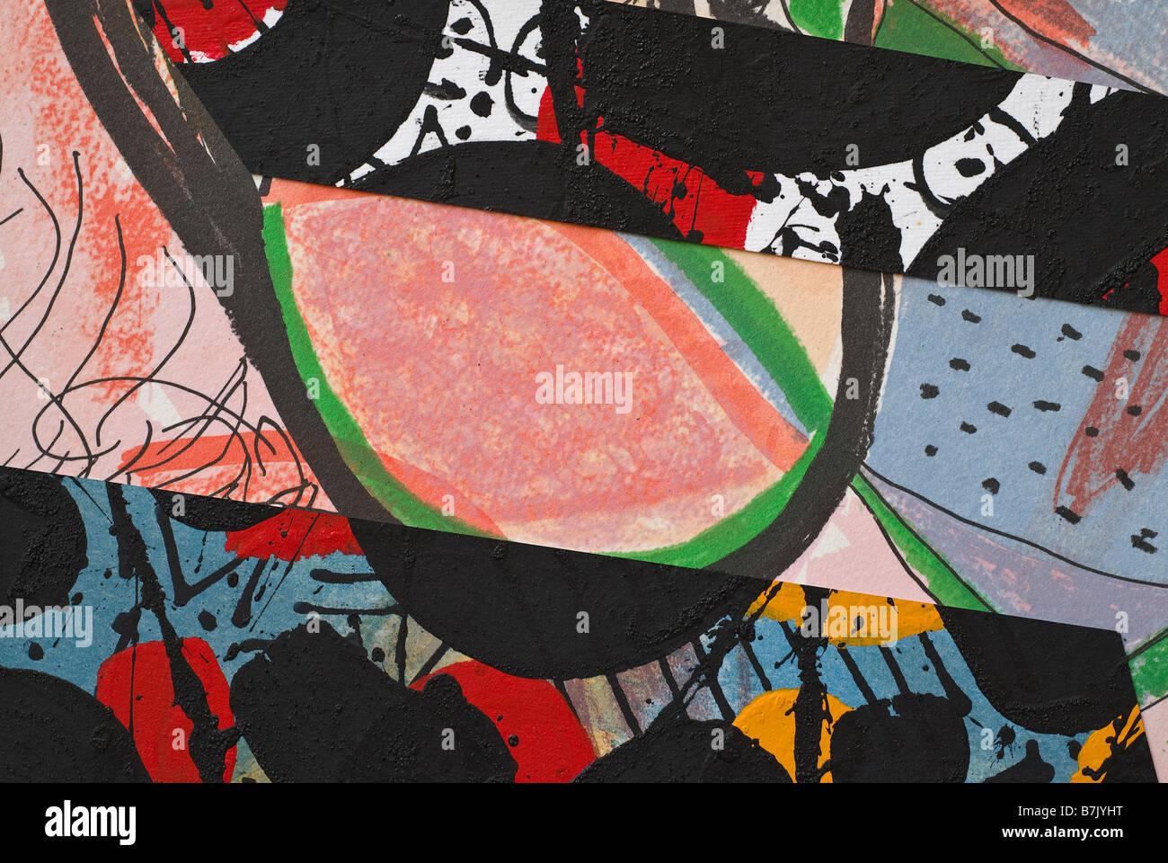 Papier peint main Collage comme élément de conception Photo Stock