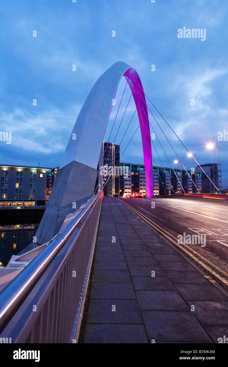 Finnieston bridge pont aux clyde Glasgow Banque D'Images