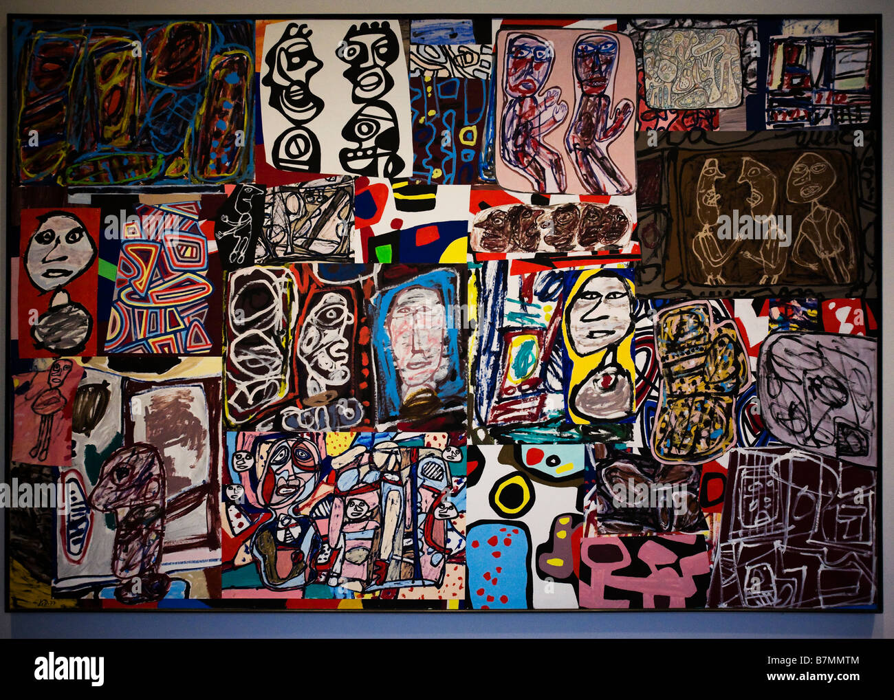 La ronde des images par Jean Dubuffet, 1977 Photo Stock