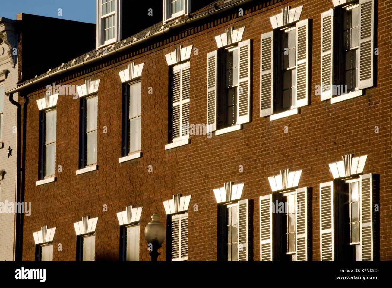 Architecture La rue M Georgetown Washington D.C. Photo Stock