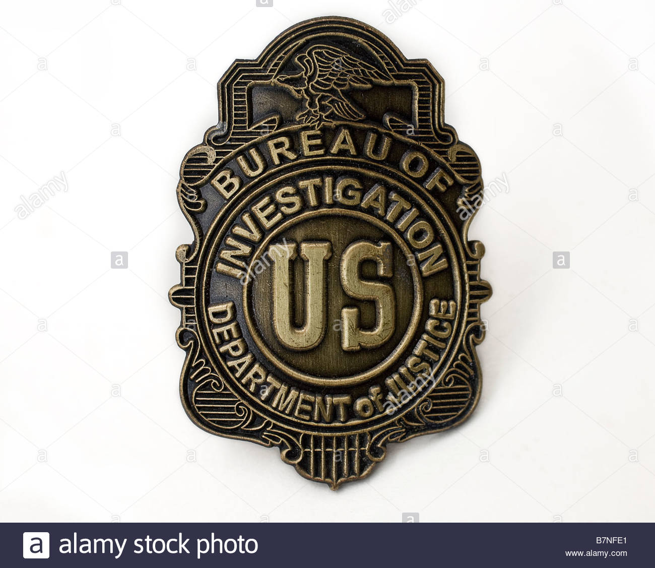 fbi badge photos fbi badge images alamy. Black Bedroom Furniture Sets. Home Design Ideas