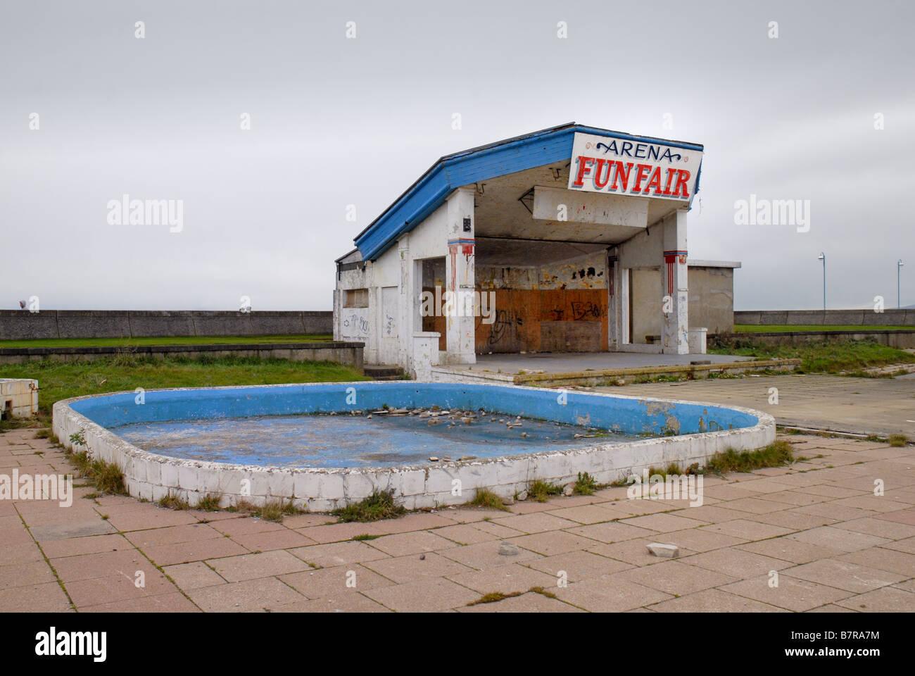 Bâtiment de mer déserte de Morecambe, Lancashire Photo Stock