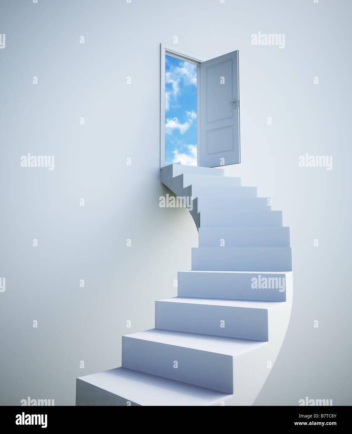 Escalier vers le ciel Photo Stock