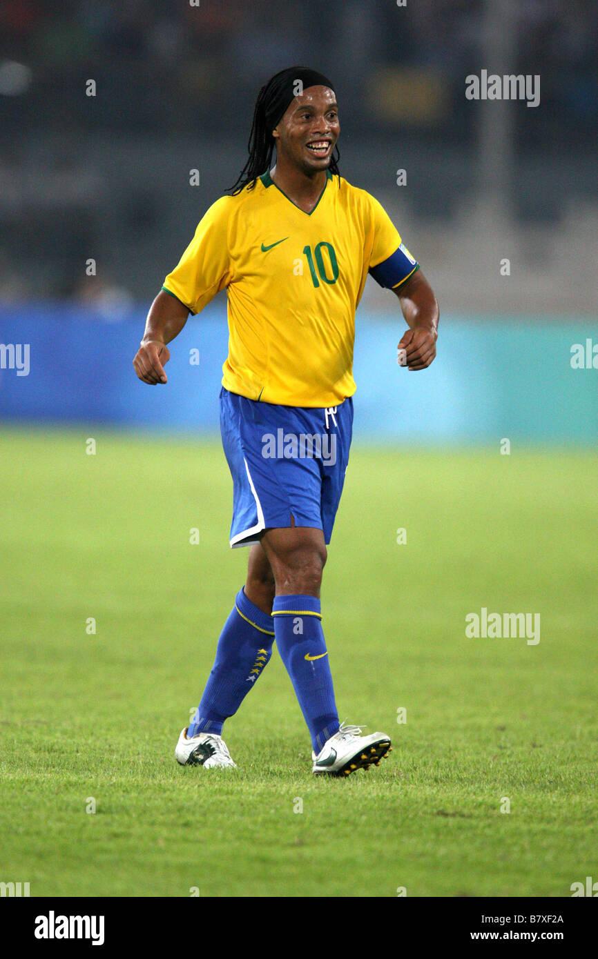Soutien-gorge 19 AOÛT 2008 Ronaldinho Football Jeux Olympiques de Beijing  2008 Football match de demi-finale hommes entre l Argentine et le Brésil au  Stade ... c6eb9ae5cb0d