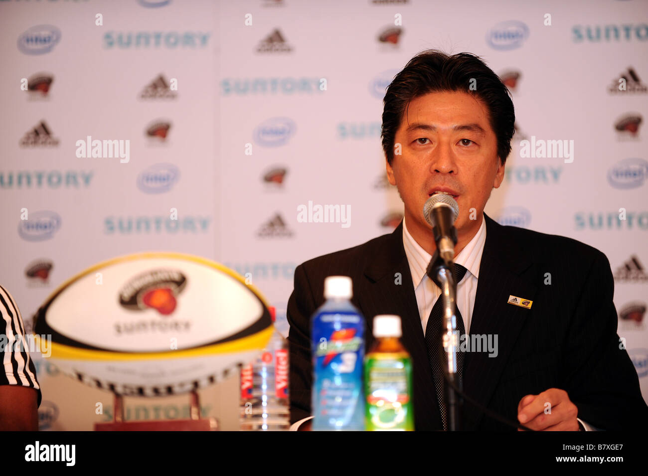 Masato Tsuchida Sungoliath GM 4 SEPTEMBRE 2008 Rugby Mme Musarurwa George Gregan japonais Suntory Sungoliath Rugby Photo Stock