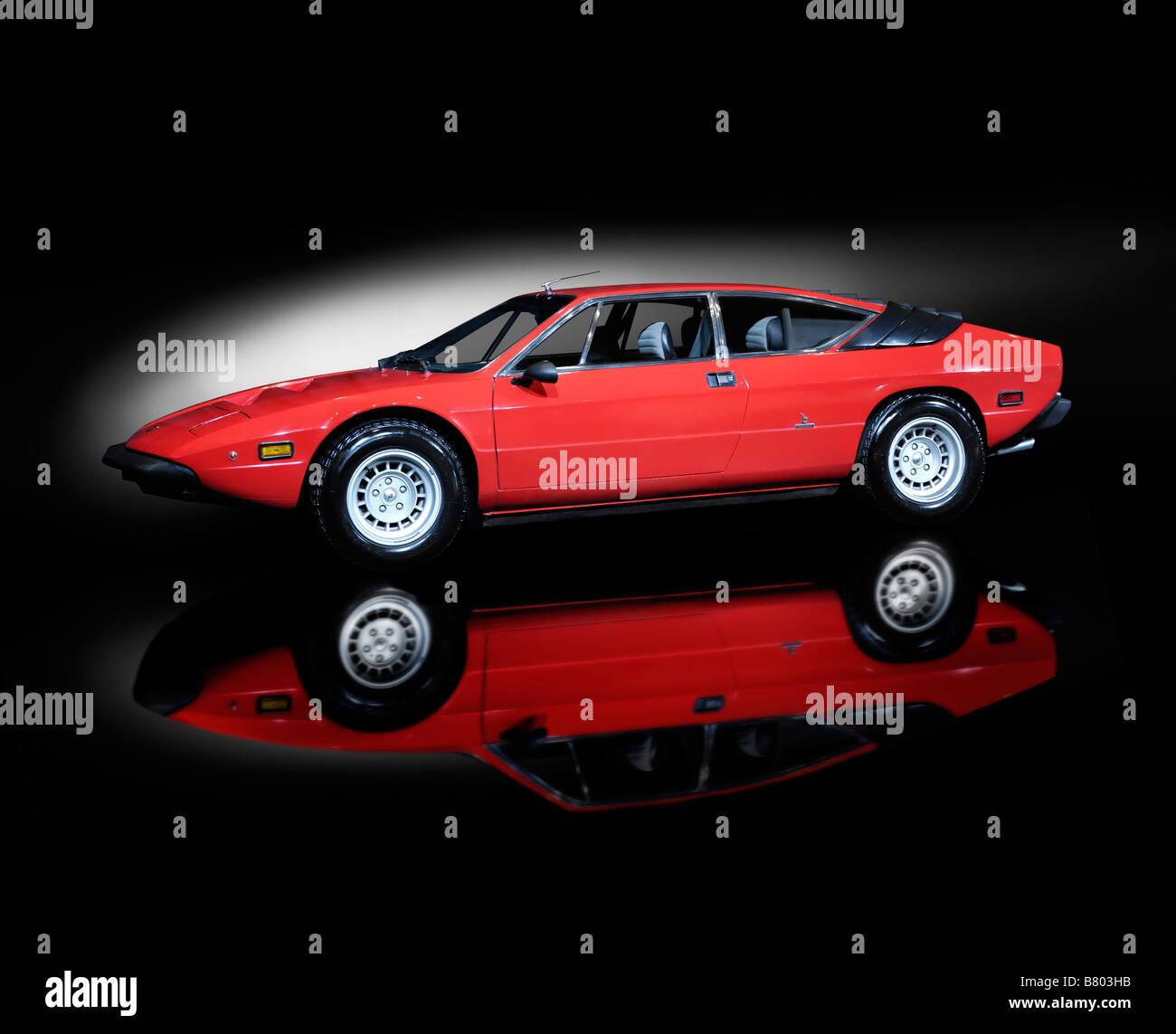 Lamborghini Urraco rouge super voiture rétro Photo Stock