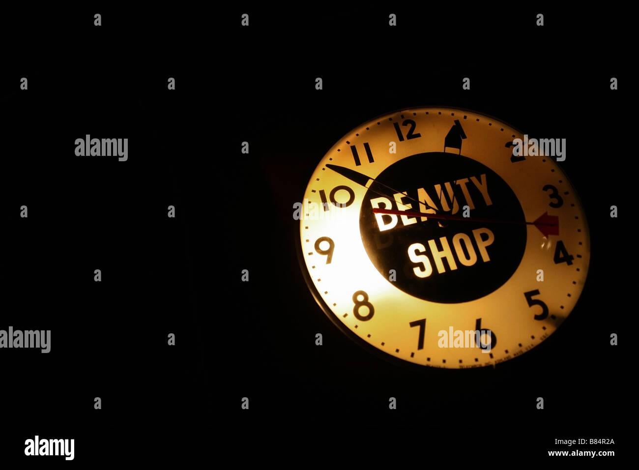 Signe de beauté et de l'horloge Photo Stock