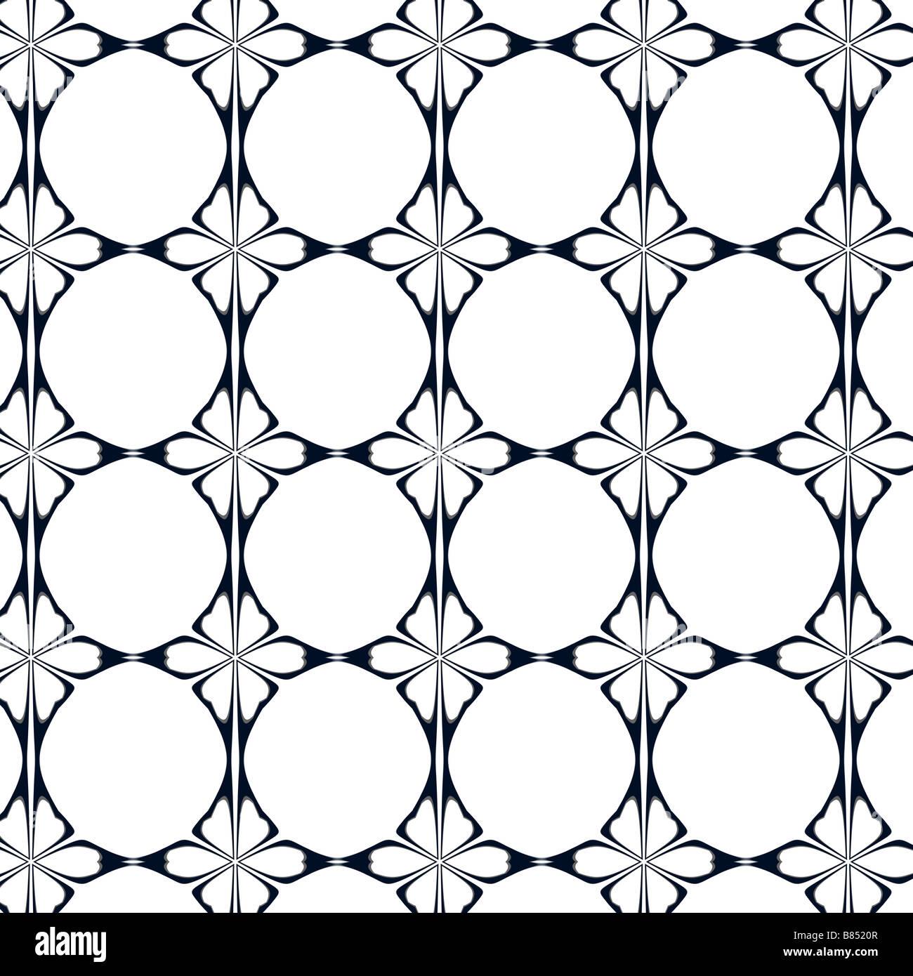 Noir Blanc Et Gris Motif Papier Peint Art Nouveau Banque D Images