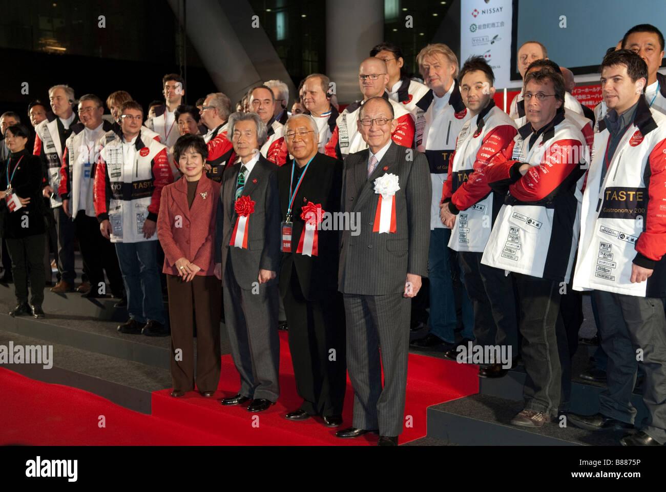 Les dignitaires lors de la cérémonie d'ouverture de Tokyo Bouche: Le Sommet mondial de la Gastronomie Photo Stock