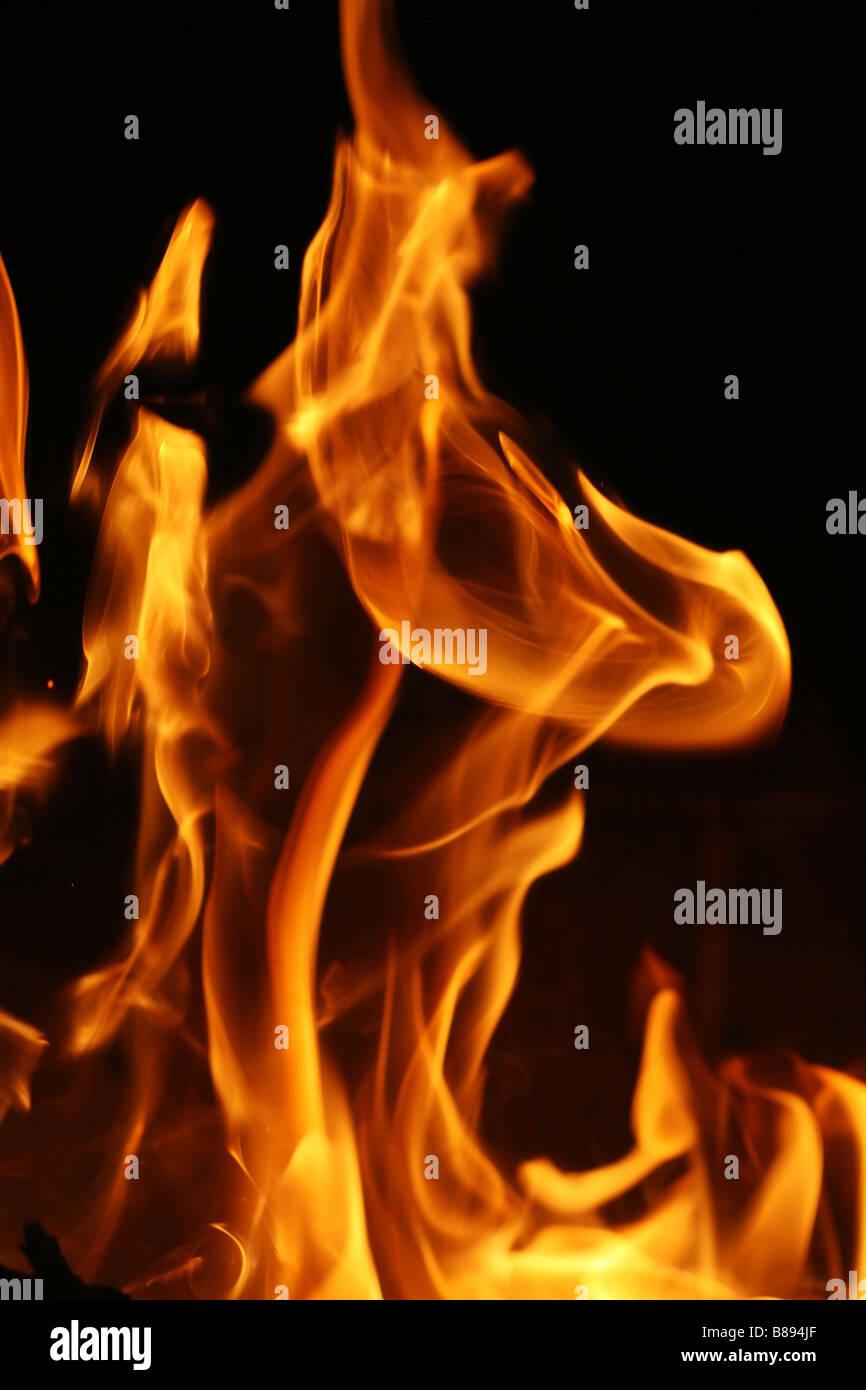 Texture de fond des flammes d'incendie Photo Stock
