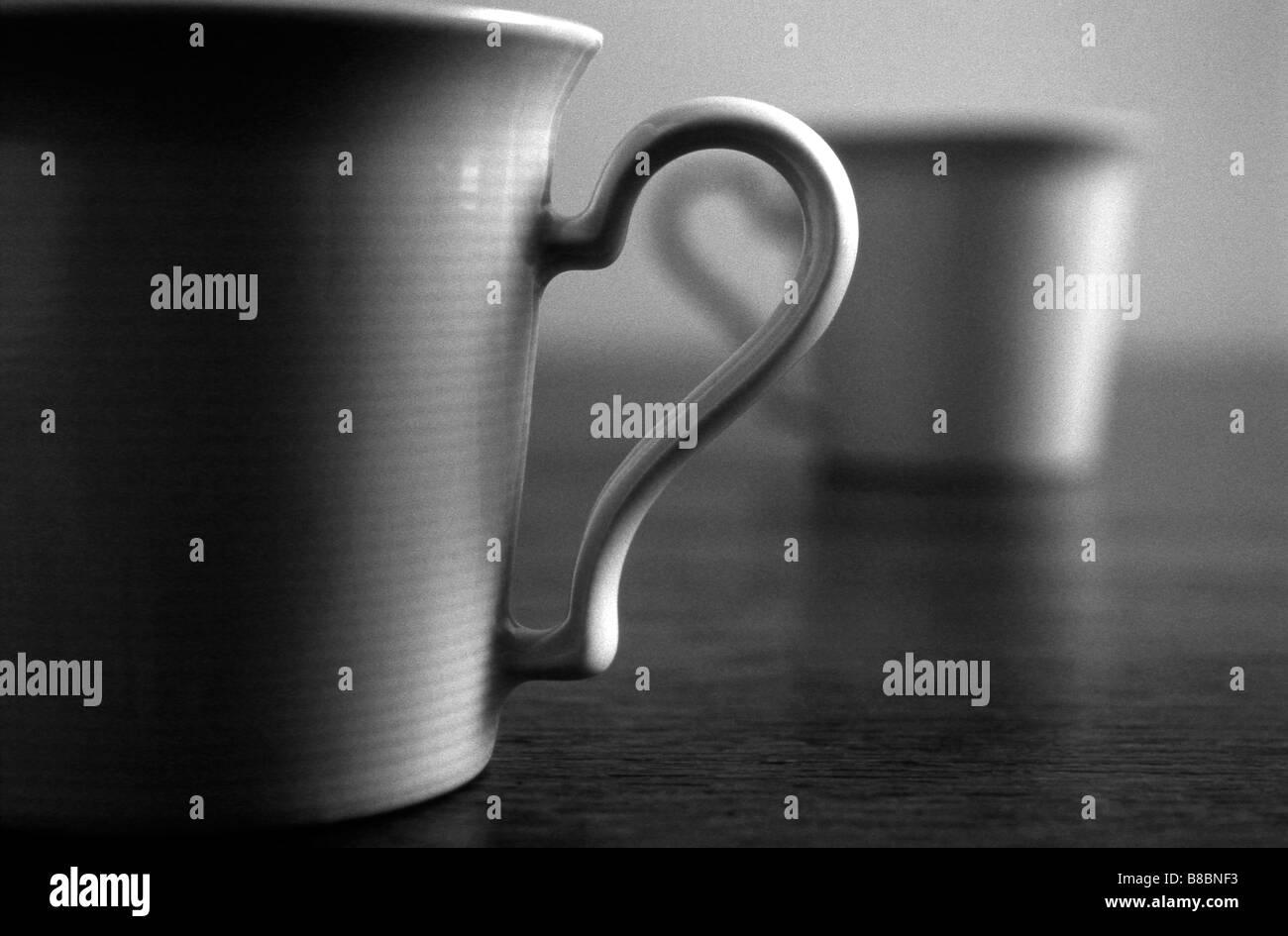 Tasses à thé, n/b Photo Stock