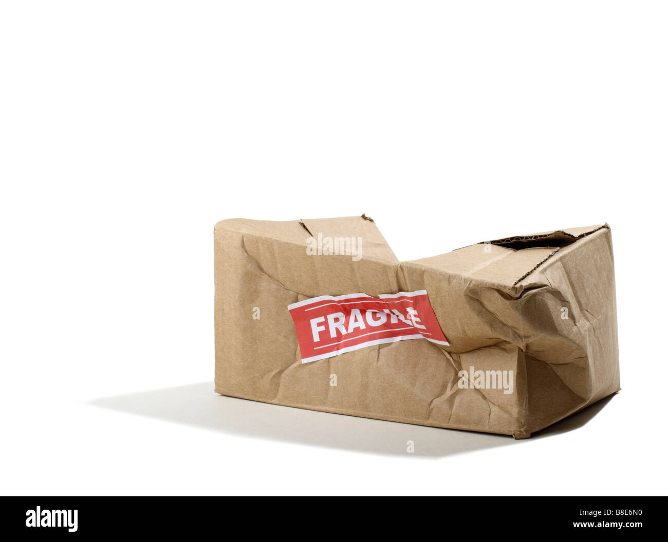 Beat up Cardboard Box Photo Stock