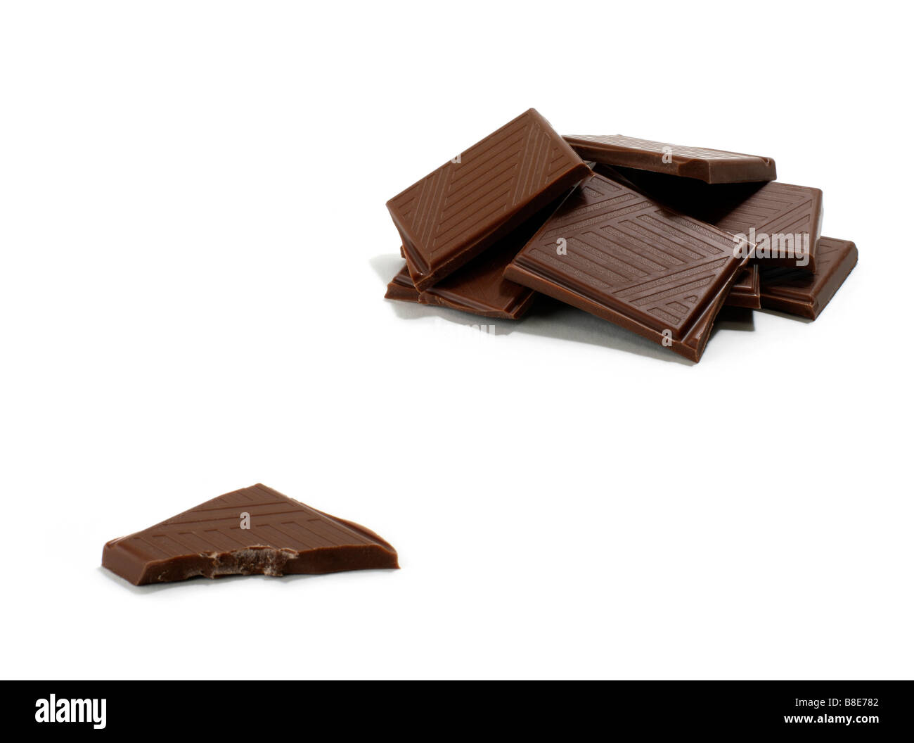 Pile de pièces en chocolat Photo Stock