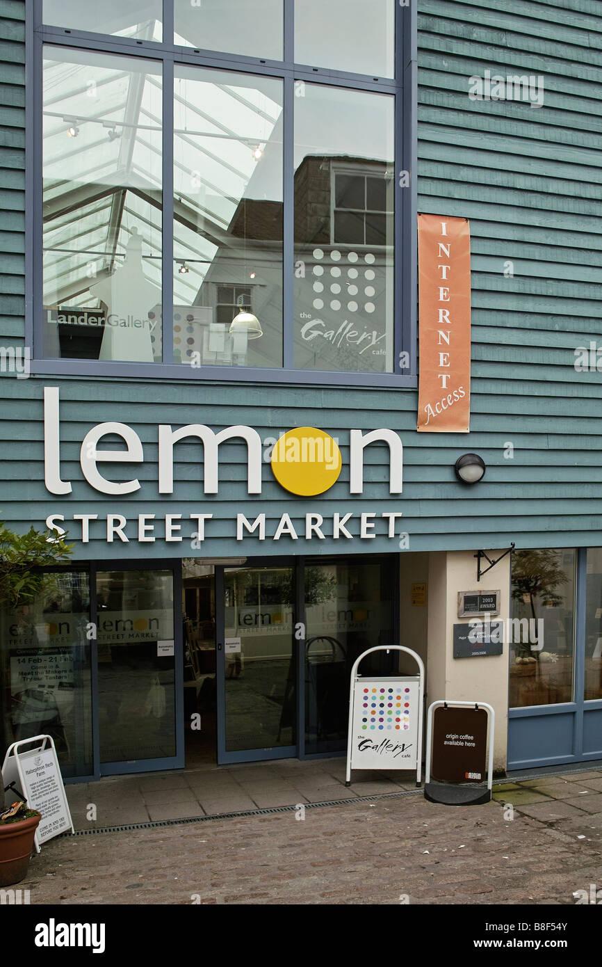 L'entrée de la rue de citron,marché,truro cornwall,uk Photo Stock