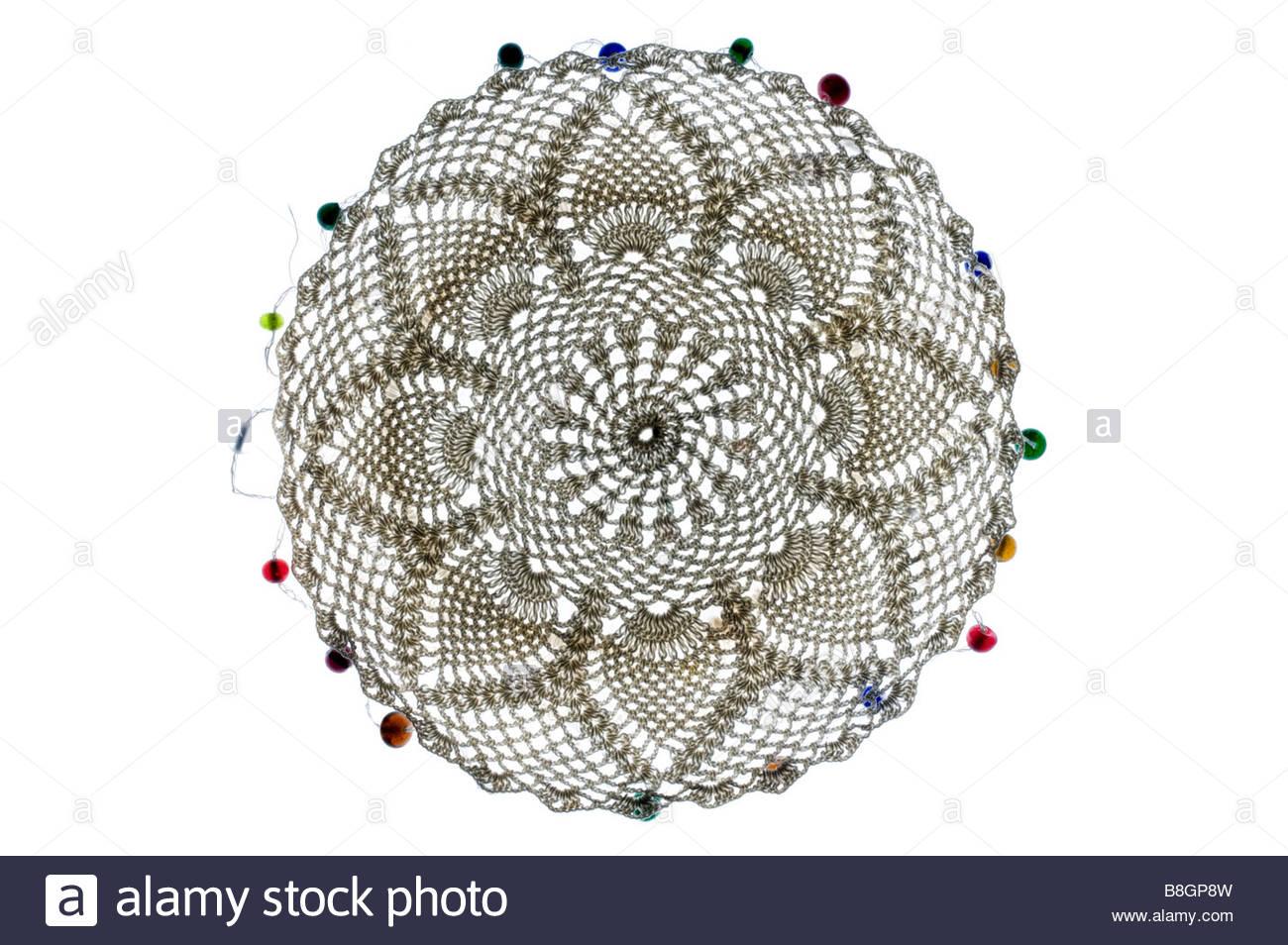 Napperon dentelle décorative faite à partir de Photo Stock