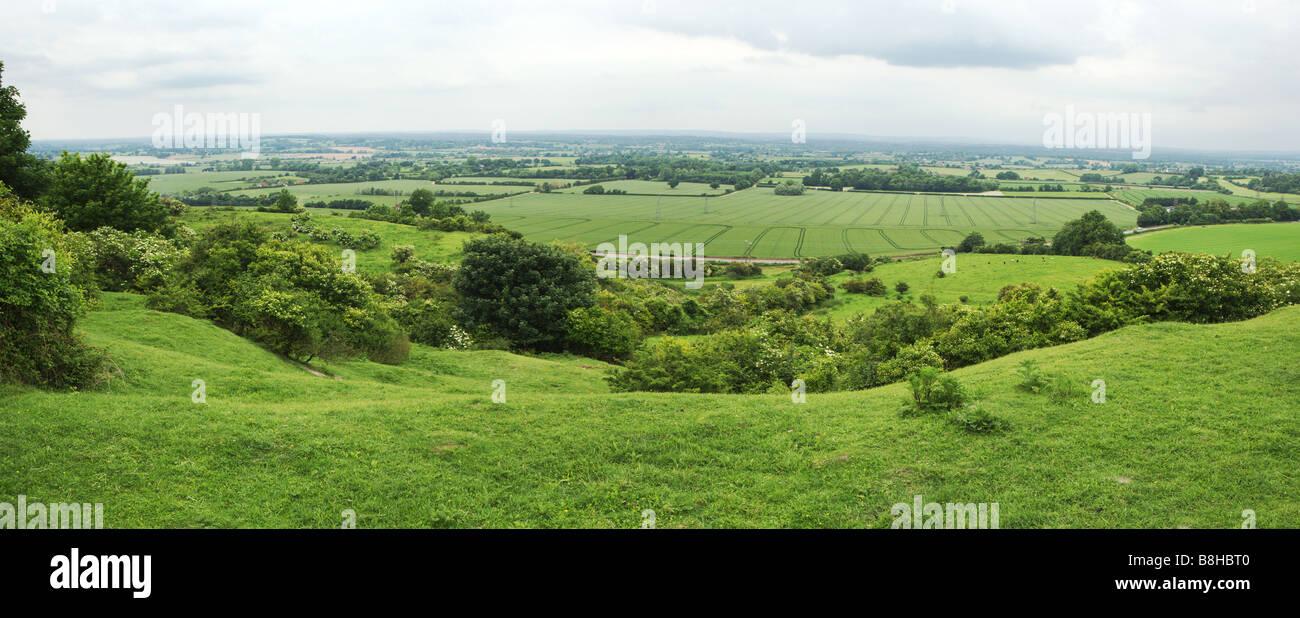 Vue panoramique des South Downs, East Sussex. Photo Stock