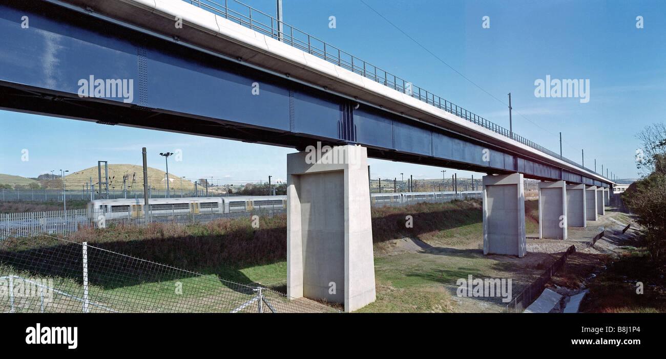 L'Dolland Moor viaduc construit avec résistantes à la corrosion de l'acier patiné d'avoir Photo Stock
