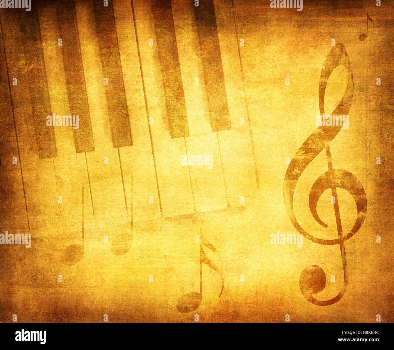 La musique grunge background avec espace pour texte ou l'image Photo Stock