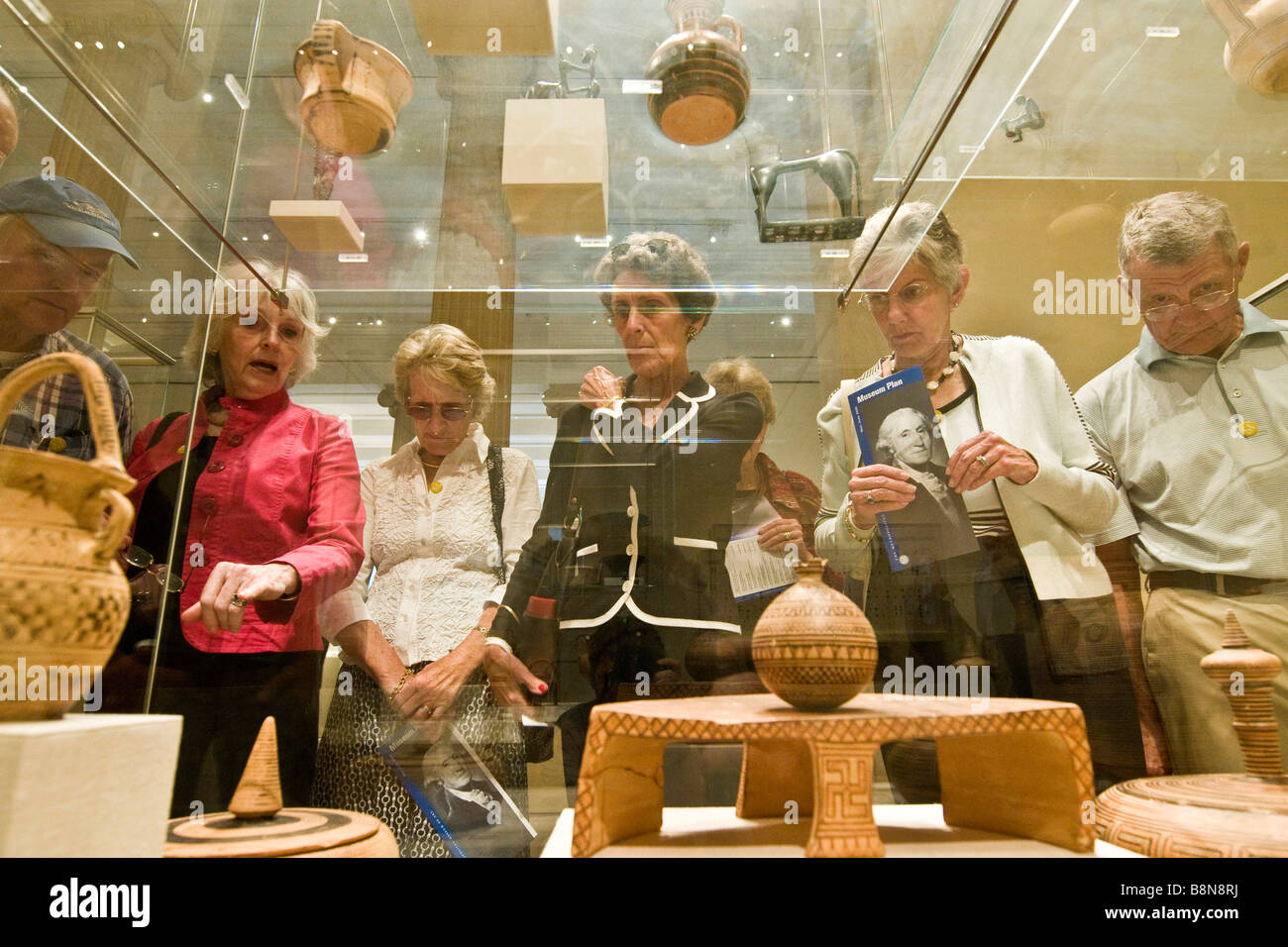 Syndicat de l'affichage d'un ensemble d'éléments de l'antiquité classique, Metropolitan Photo Stock