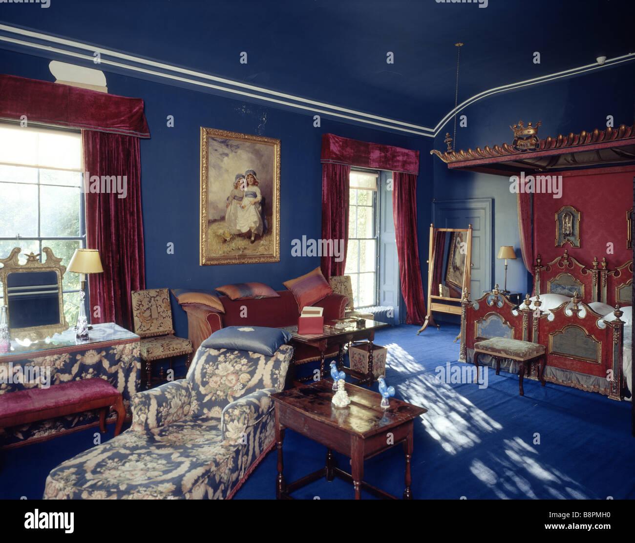 La Chambre de Rome à Mount Stewart redécoré Dame Edith meublé Londonderry dans le 1920 s Banque D'Images