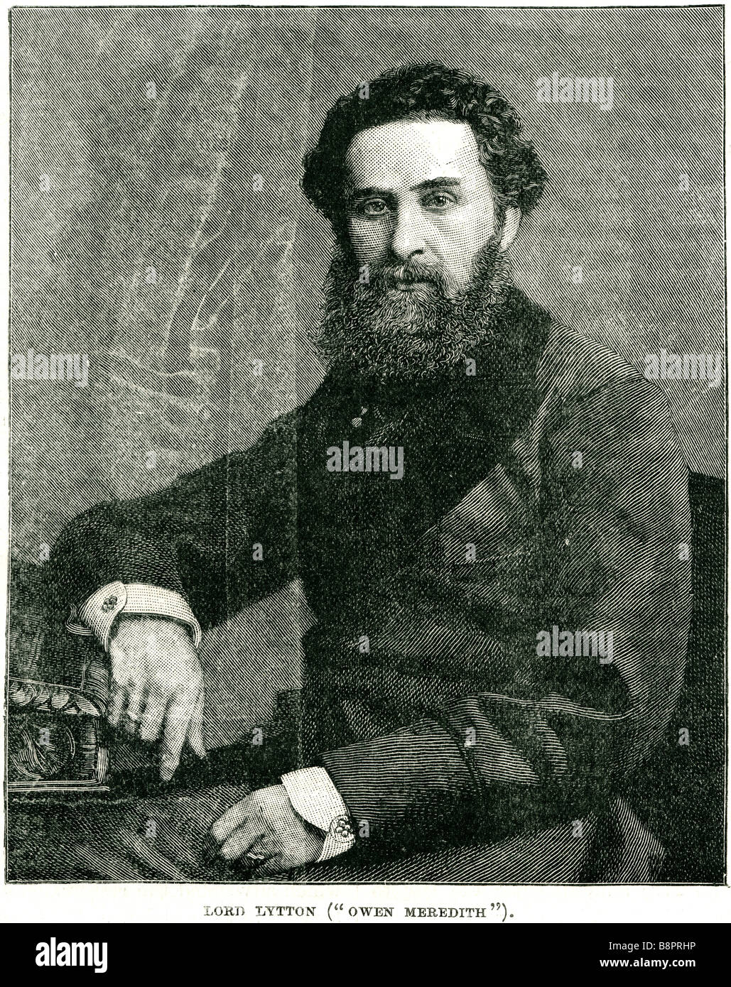 Edouard George Earle Lytton Bulwer 1803 1873 poète, romancier anglais politicien dramaturge Banque D'Images