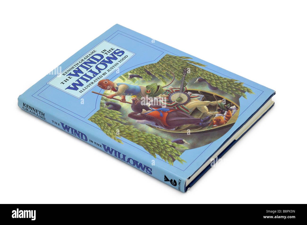Livre pour enfants vent dans les saules Photo Stock