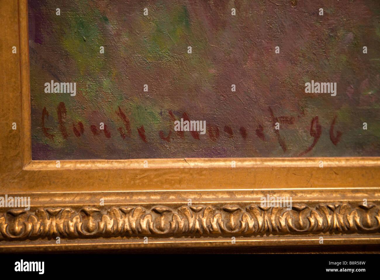 la signature de claude monet sur l 39 une de ses peintures banque d 39 images photo stock 22636681. Black Bedroom Furniture Sets. Home Design Ideas