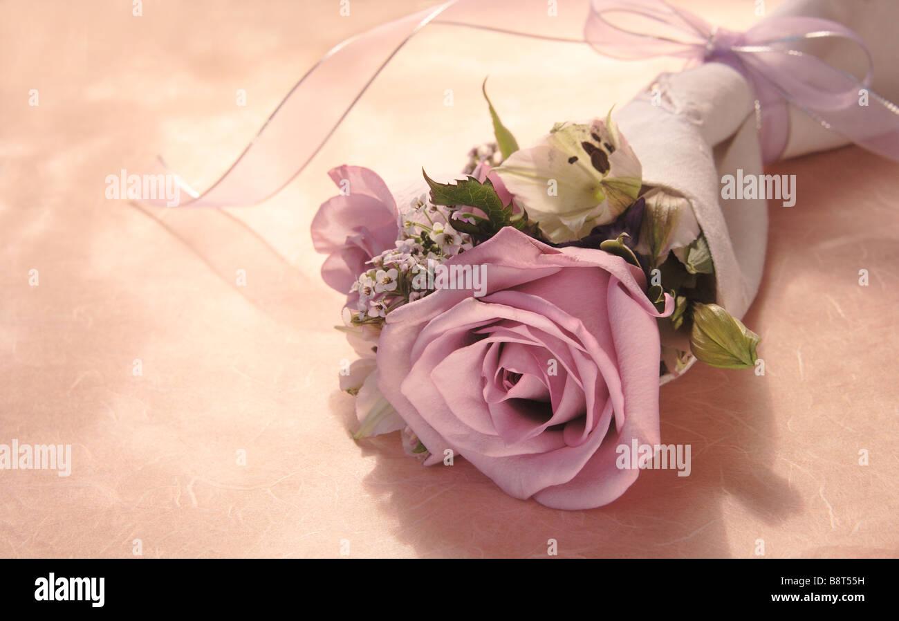 De Couleur Rose Lavande Avec Violettes L Alstroemeria Et Alyssum