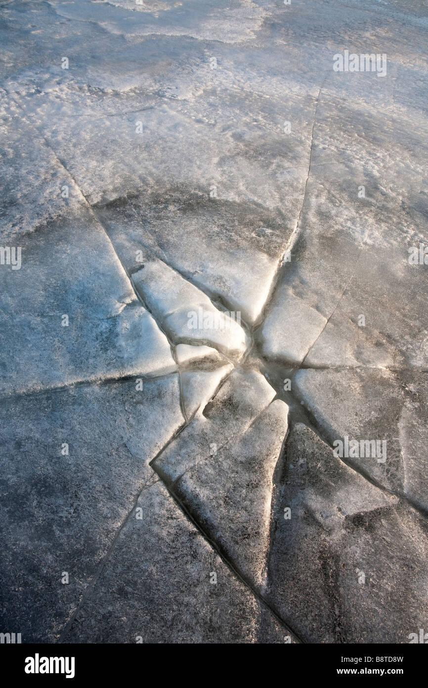 La glace de mer de craquage Photo Stock