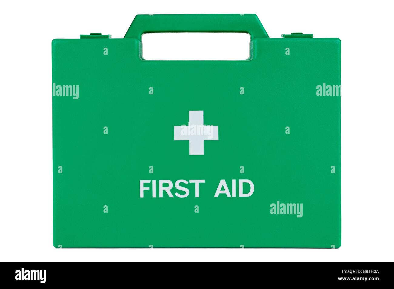 Trousse de premiers secours, Cut Out. Photo Stock