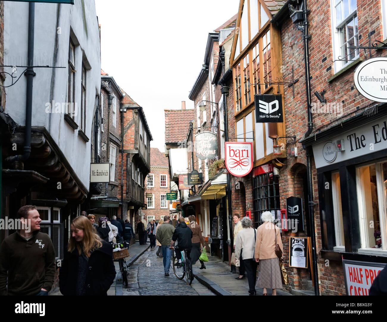 La Shambles York pour un usage éditorial uniquement Photo Stock