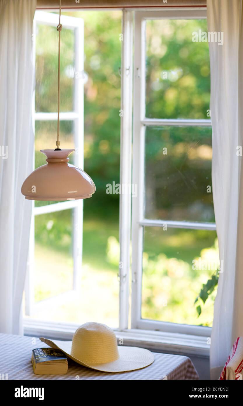 Une fenêtre ouverte de la Suède. Banque D'Images
