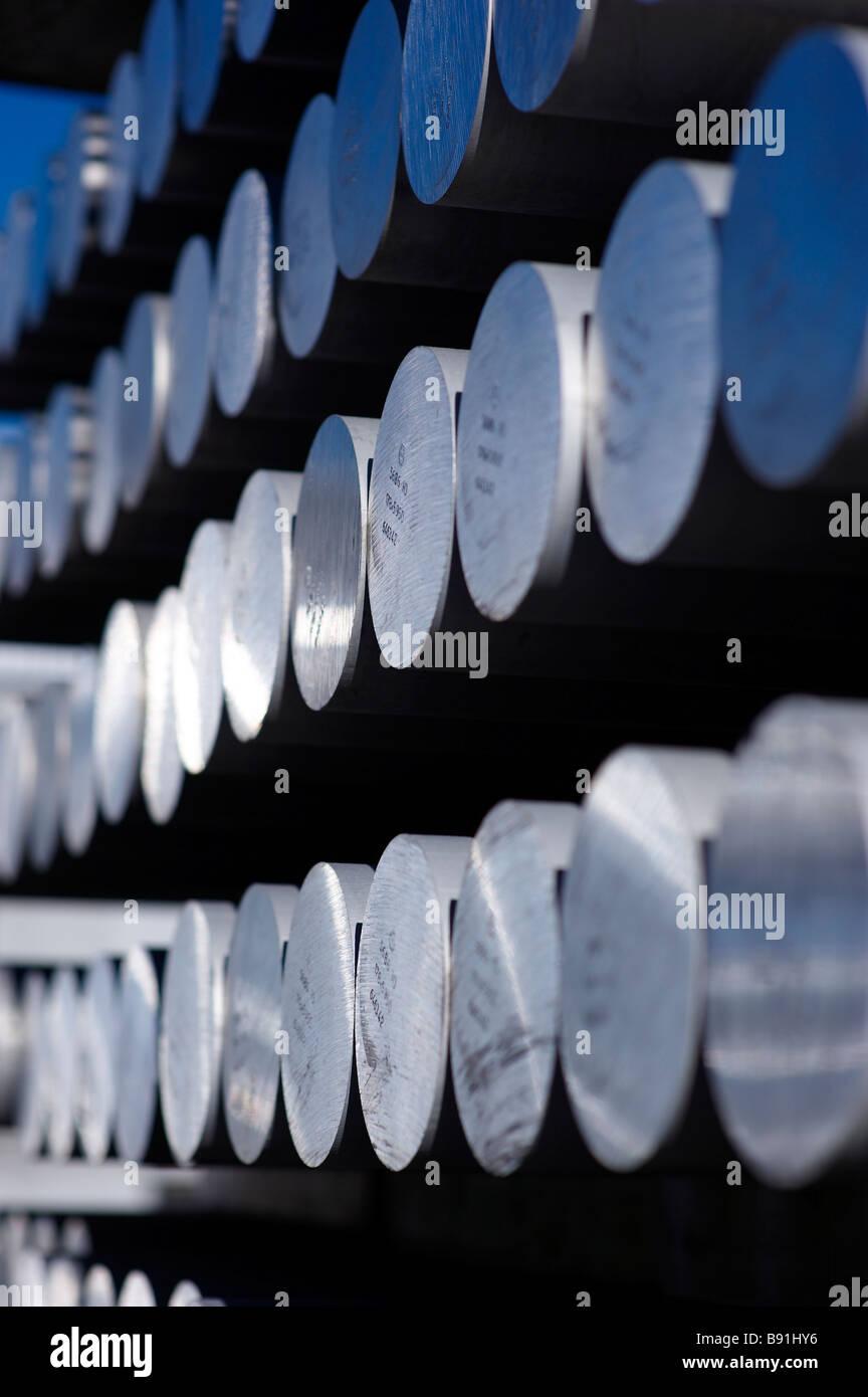 Tiges d'aluminium Photo Stock