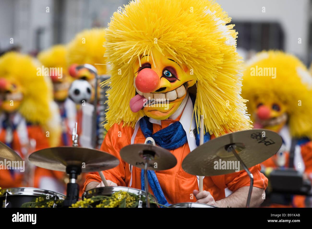 Le carnaval, un carnaval d'hiver dans le nord-ouest de Bâle en Suisse Photo Stock